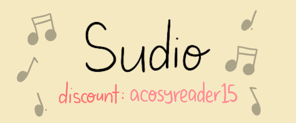 A Cosy Reader SUDIO Affiliate Link - acosyreader15 for discount
